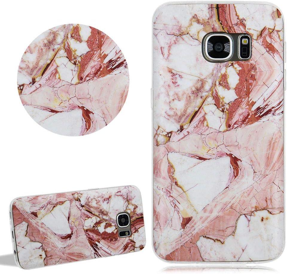 Marmor Rosa Matt Silikon Hülle Für Samsung Galaxy S7 Elektronik