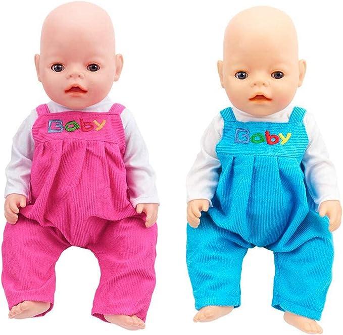 40-45 cm Tenue de poup/ée avec Chapeau et Chaussettes pour 18 Poup/ée ZWOOS V/êtements de Poup/ée pour New Born Baby Poup/ée