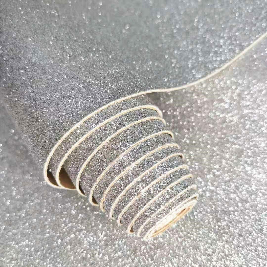 Argent/é. 21 x 136 cm ZAIONE Rouleau de papier peint /à paillettes