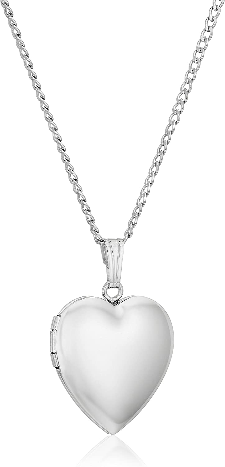 925 Sterling Silver Polished Textured Three Heart Necklace 18 Inch