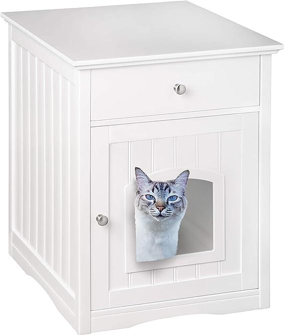 UPP® Casa para gato, cubierta para caja de arena y mueble con ...