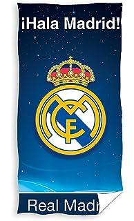 Real Madrid Toalla de Baño y Playa 100% Algodón de 75x150 cm. RM171106