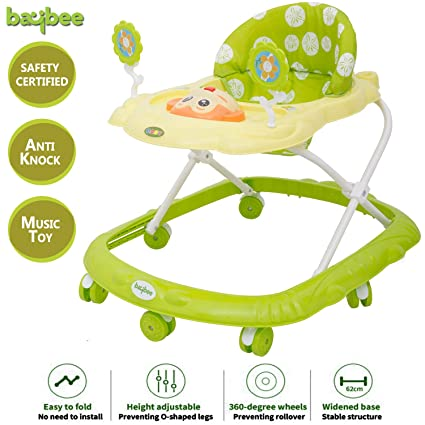 Baybee Ziggy Baby Walker Round Kids Walker For Babies Cycle With Adjustable Height And Musical Toy Bar Rattles And Toys Ultra Soft Seat Activity