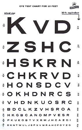 Snellen Type Plastic Eye Chart 10