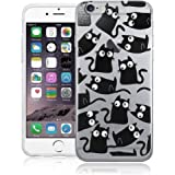 """Stylish Black Cat with Googly Eyes Phone case, cover, Skin for Apple iPhone 6 (4.7"""")"""