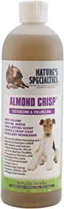 Nature's Specialties Almond Crisp Dog Shampoo with Aloe Vera for Pets, Small Dogs Poodles Dilutes Up to 32:1 Made in USA Non-Toxic