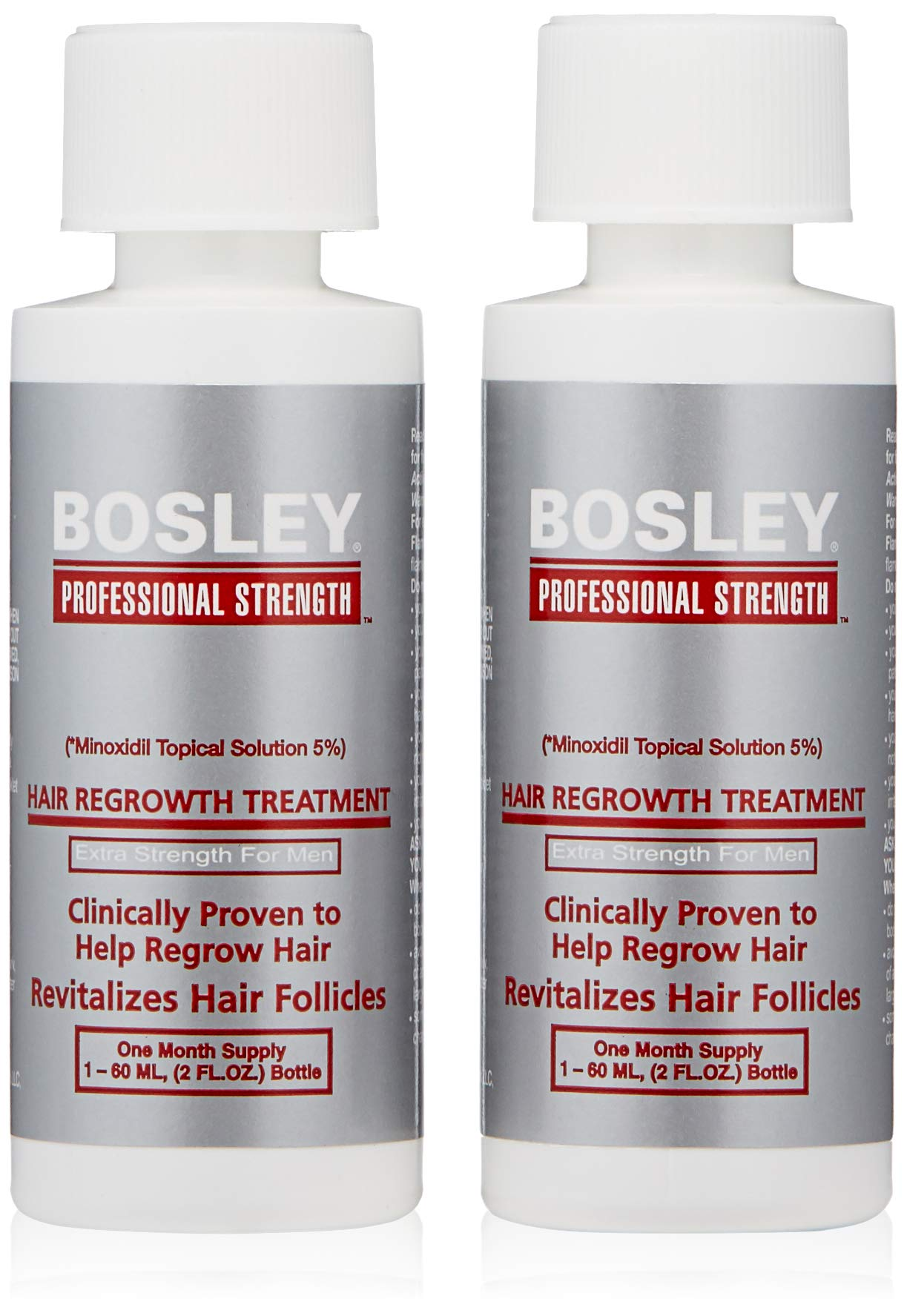 Bosley Professional Strength Men's Hair Re-growth Treatment, 5% Minoxidil Topical Solution by Bosley Professional Strength