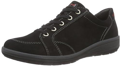 Ara - Chaussures À Lacets En Cuir Noir Femmes Noires, Couleur Noire, Taille 37,5 Eu / Uk 4.5