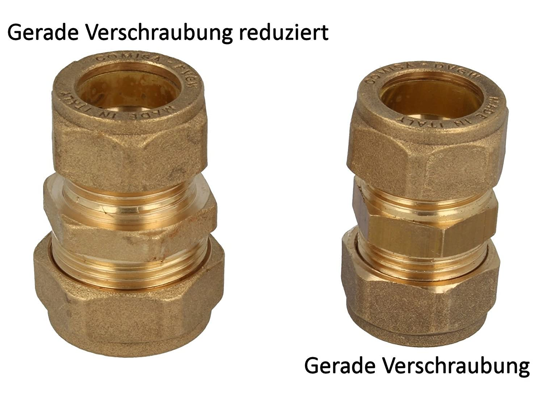 Conex Klemmring-Verschraubung Schneidringverschraubung 15 x 15mm gerade