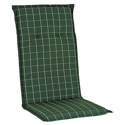 Auflagen fuer Hochlehner Sessel Stuhl Gartenmoebel Gartenstuhl Kissen uni grau