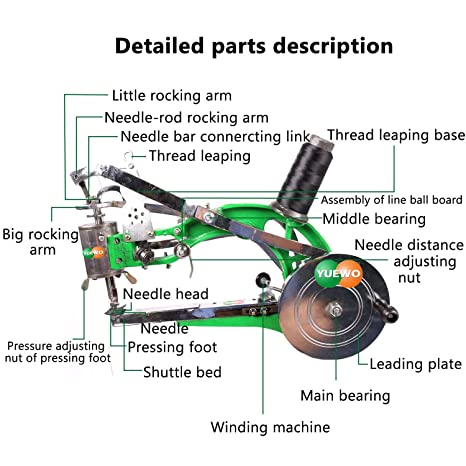 Amazon.com: YUEWO Máquina de reparación de zapatos manual ...