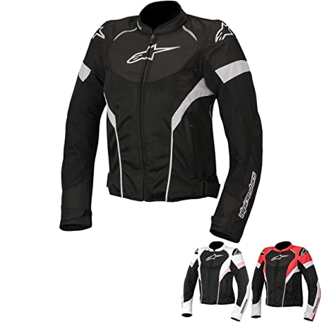 Alpinestars T-GP Plus R Air Womens Street Motorcycle Jackets - Black/White/Red / 2X-Large