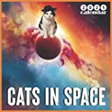 Cats in Space 2021 Calendar: 2021 Calendar 18 Months Funny Space Cats Gifts
