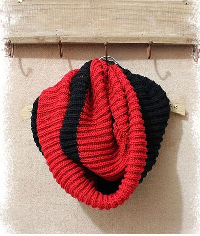 Luckystaryuan /® Christmas Gift Set of 2 Lover Neck Warmer Men Women Woolen Scarves black red