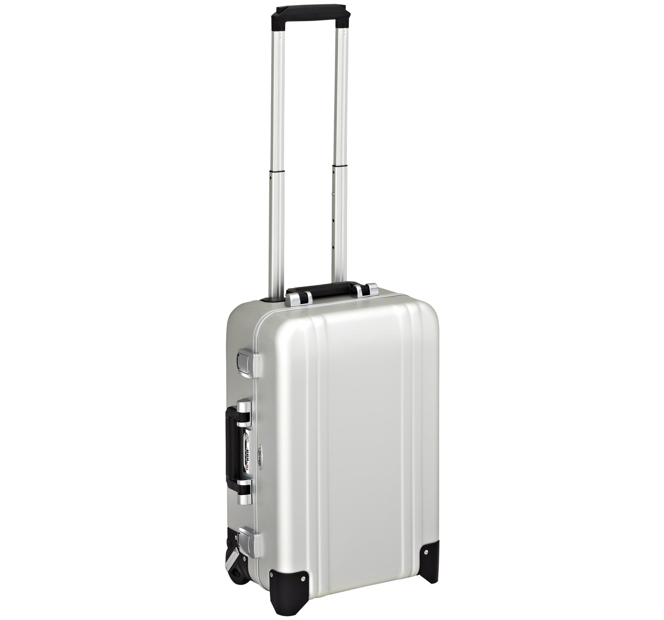 Zero Halliburton Classic Aluminum Carry On 2 Wheel Travel Case, Silver, One Size