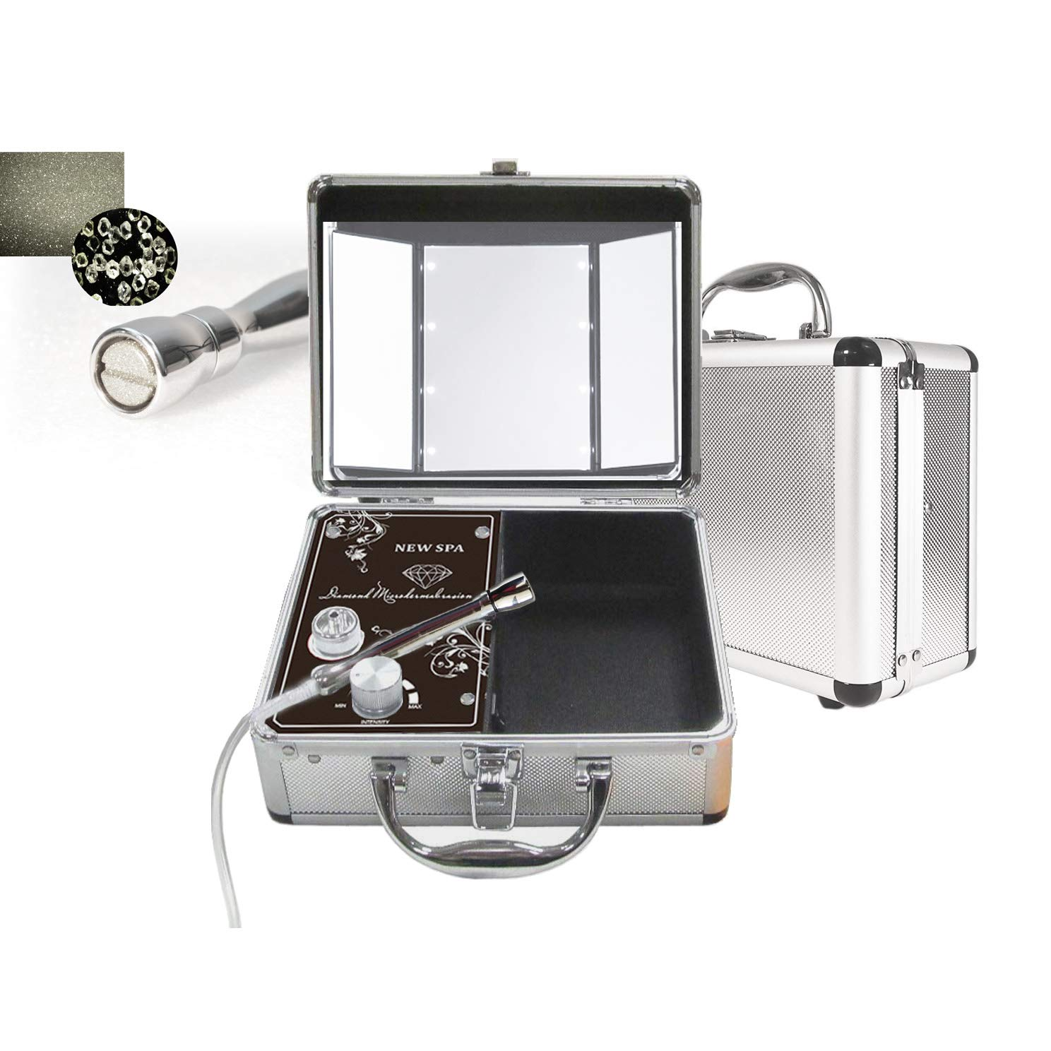 Vacuum Microdermabrasion Portable Machine NEW SPA HOME Skin Care Kit (Silver) by NEW SPA Diamond Dermabrasion Machines