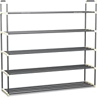 Home-Complete Shoe Rack with 5 Shelves-Five Tiers