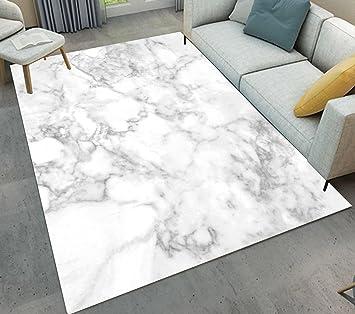 LB Texture De Marbre, Blanc, Gris, BackgroundArea Rug, Salon Chambre Salle  De