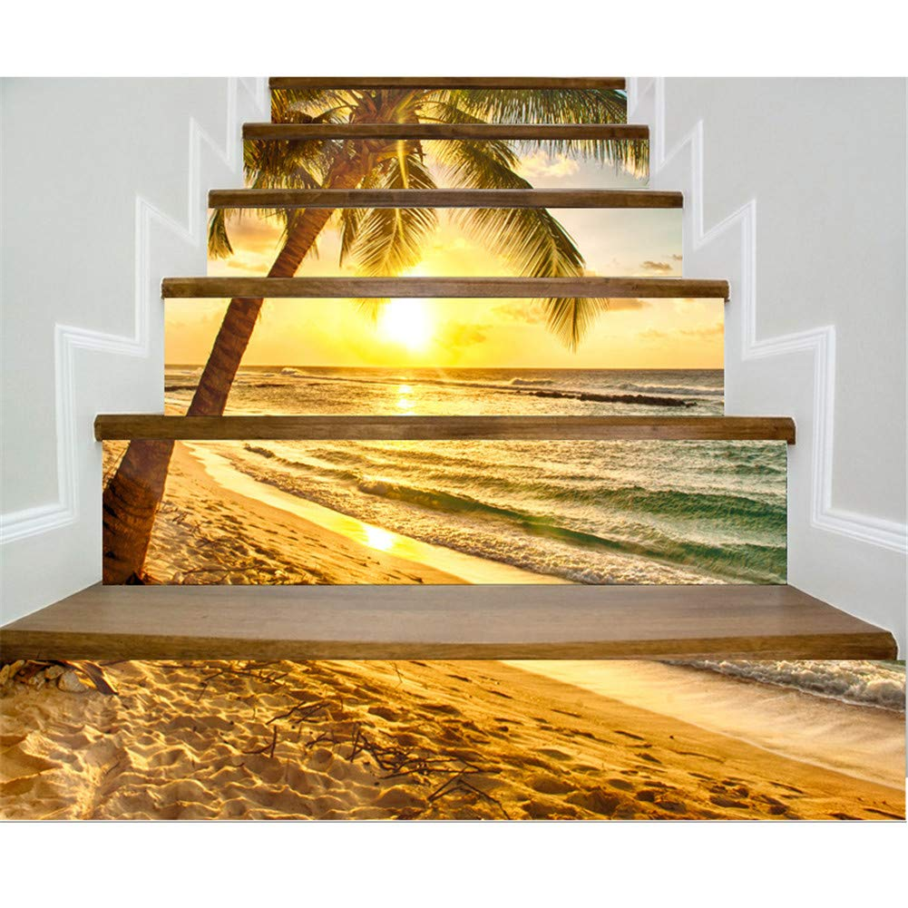 3d stair sticker murals wall decal vintage landscape staircase sticker mural tile step stair risers sticker removable peel and stick stair decal wall