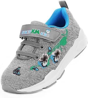 EIGHT KM EKM7006 Zapatillas para Niñas Bordado sin Cordones Zapatillas de Gimnasia Zapatillas de Deporte para de Las Muchachas, Al Aire Zapatillas: Amazon.es: Zapatos y complementos