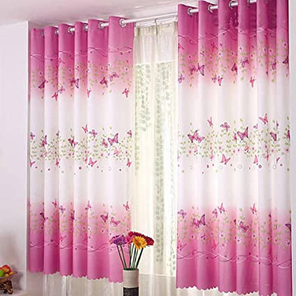Butterfly Short Window Curtains For Living Room Curtains For Bedroom 1% 40%  Blackout