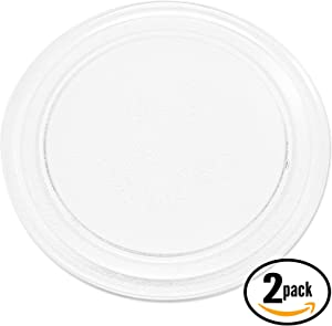 """2-Pack Replacement for Rival RGTM701 Microwave Glass Plate - Compatible with Rival 3390W1A035 Microwave Glass Turntable Tray - 9 5/8"""" (245 mm)"""