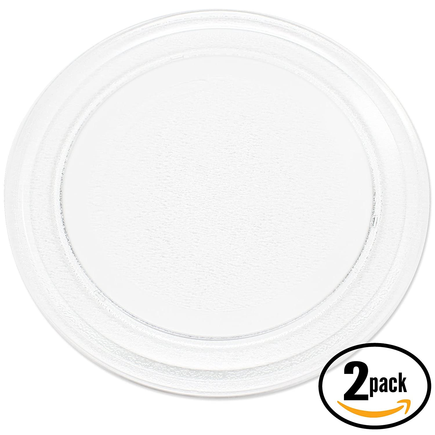 "2-Pack Replacement Emerson MW8781SD Microwave Glass Plate - Compatible Emerson 3390W1A035 Microwave Glass Turntable Tray - 9 5/8"" (245 mm)"
