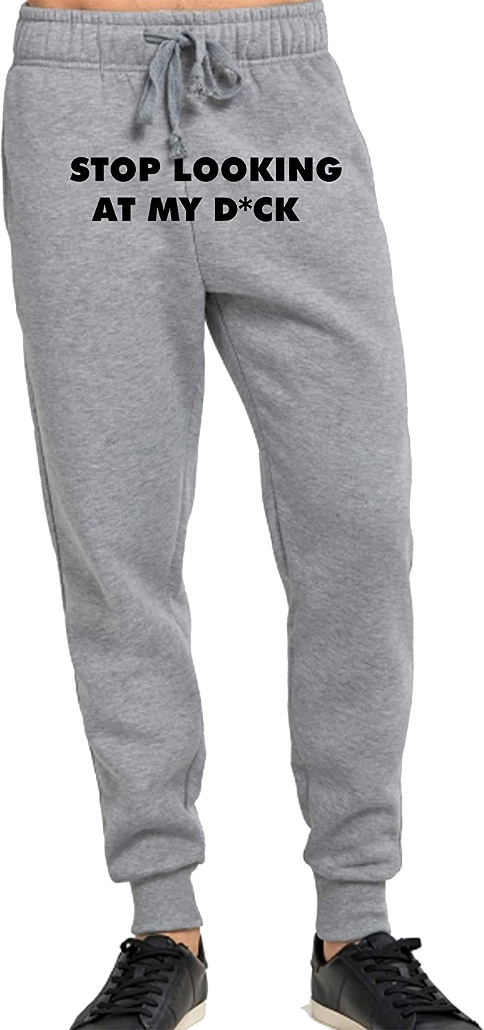 Mens Jogger Sweat Pants Lovedusts Stop Looking at My dck