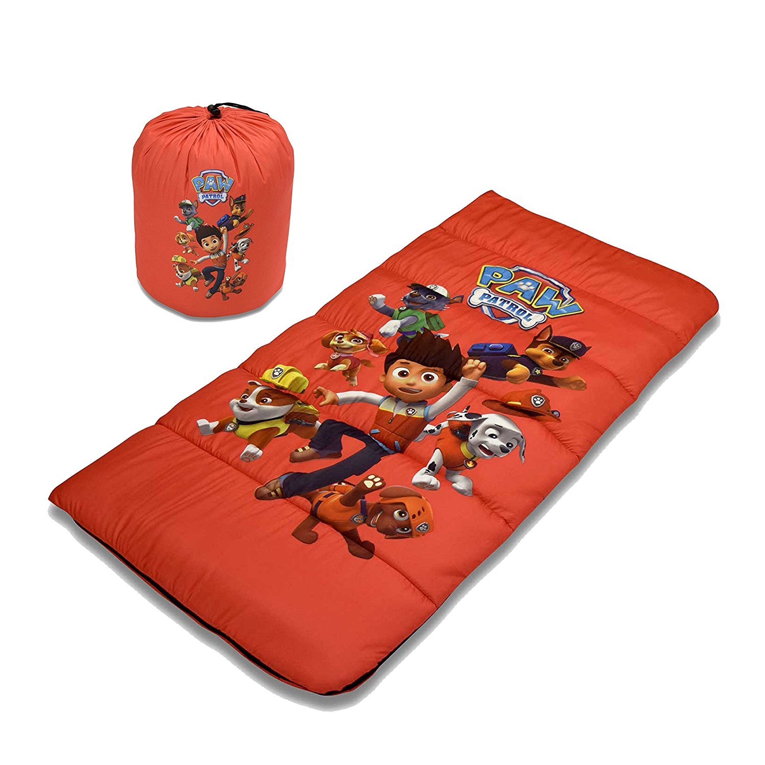 Cambay Linens Nickelodeon Kids Paw Patrol Sleeping Bag with Storage Bag, Red