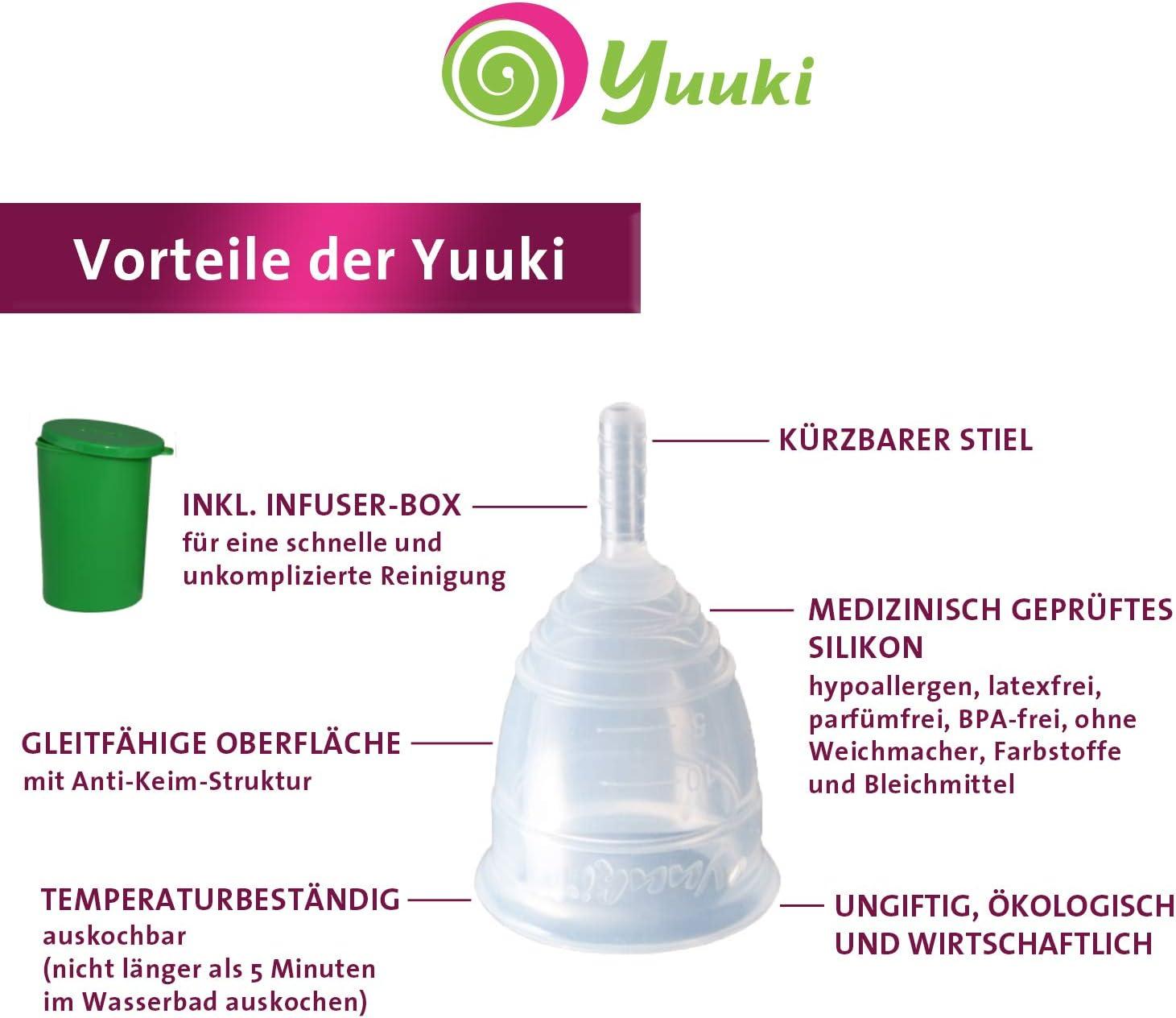 Yuuki tamaño 2 silicona Copa menstrual, alternativa a los ...
