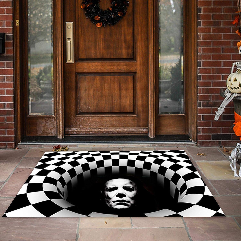 Halloween Doormat,Clown Welcome Mat 3D Halloween Rug Non-Slip Floor Mat Washable Indoor Outdoor Home Entrance Carpet Rug for Home Decor, 60 cm Ws-05|50*80cm