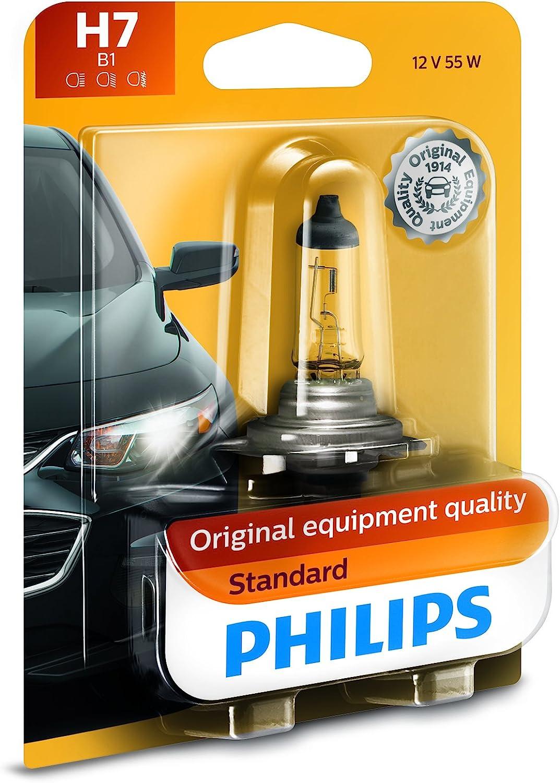 2x OEM 13-16 Mercedes C Class Philips 12972 H7 Halogen Headlight Bulb