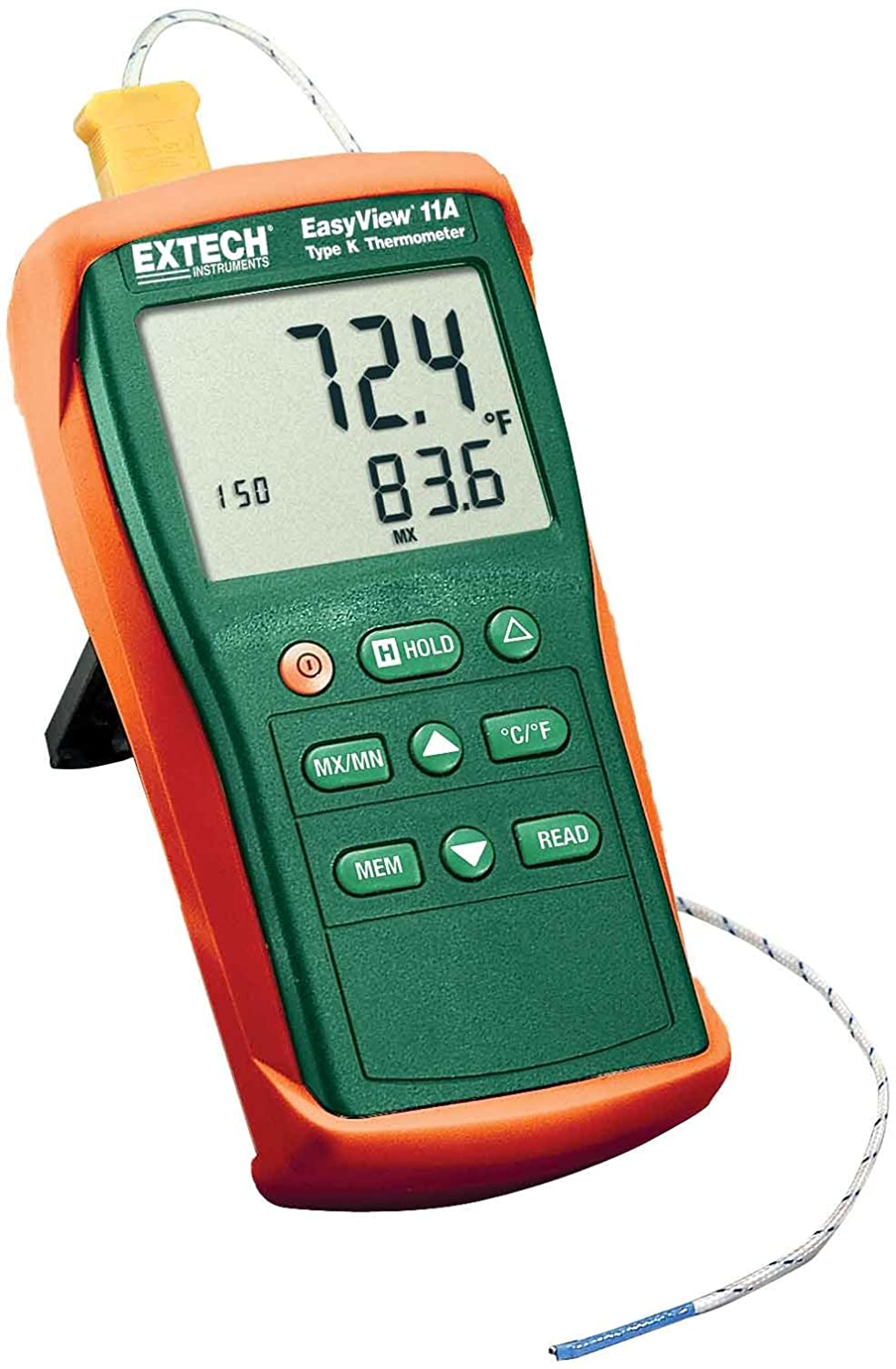Extech EA11A Easy View Type K Single Input Thermometer