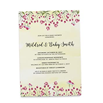 Amazon Com Autumn Baby Baby Shower Invitation Cards Envelopes