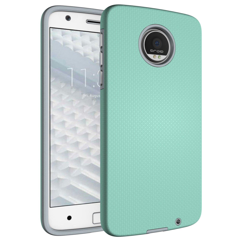 outlet store 459d2 f7d60 Amazon.com: Moto Z Case, Moto Z Droid Hybrid Case, Hybrid Rugged ...
