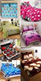Fashion Hub Glace Cotton Double Bedsheet Set of 7– Double Bed Size, Multicolour