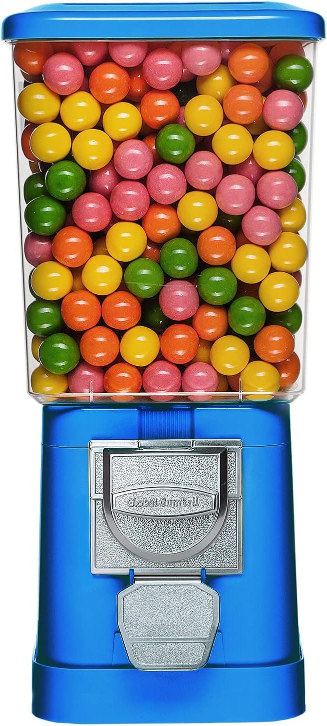 Gumball Machine - Blue Home Vending Machine - Bubble Gum Machine for Kids - Gumball Machine Bank - Coin Gumball Machine - Gum Ball Machine Without Stand