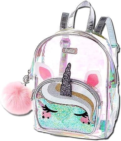 Amazon Com Justice Unicorn Mini Backpack Girls Clear