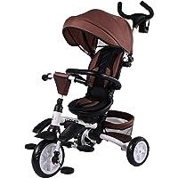 Biemme Triciclo Elite Plegable con Parasol marrón Chocolate