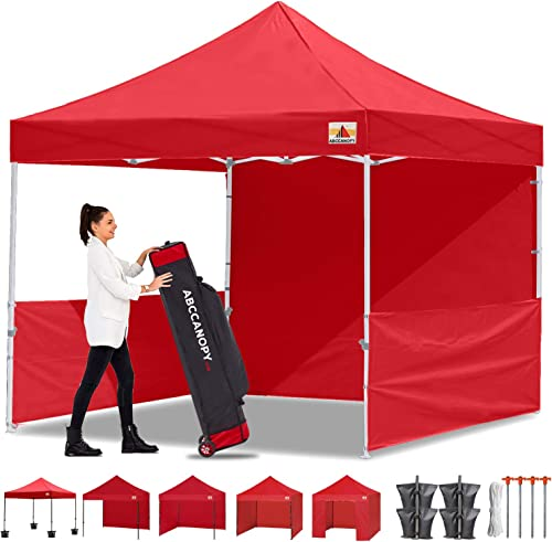ABCCANOPY 10×10 Pop-up Canopy Easy Pop Up Canopy Tent 10×10 Commercial Tent