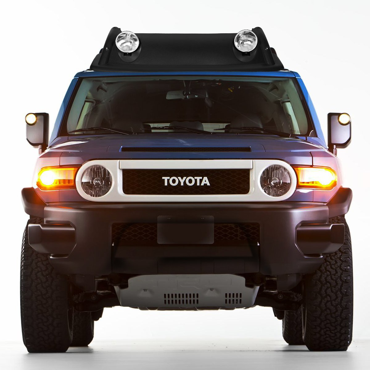 For Toyota FJ Cruiser Black Offroad OE Style Roof Rack Air Dam + Fog Lights  + Cover Kit, Gap Guards - Amazon Canada