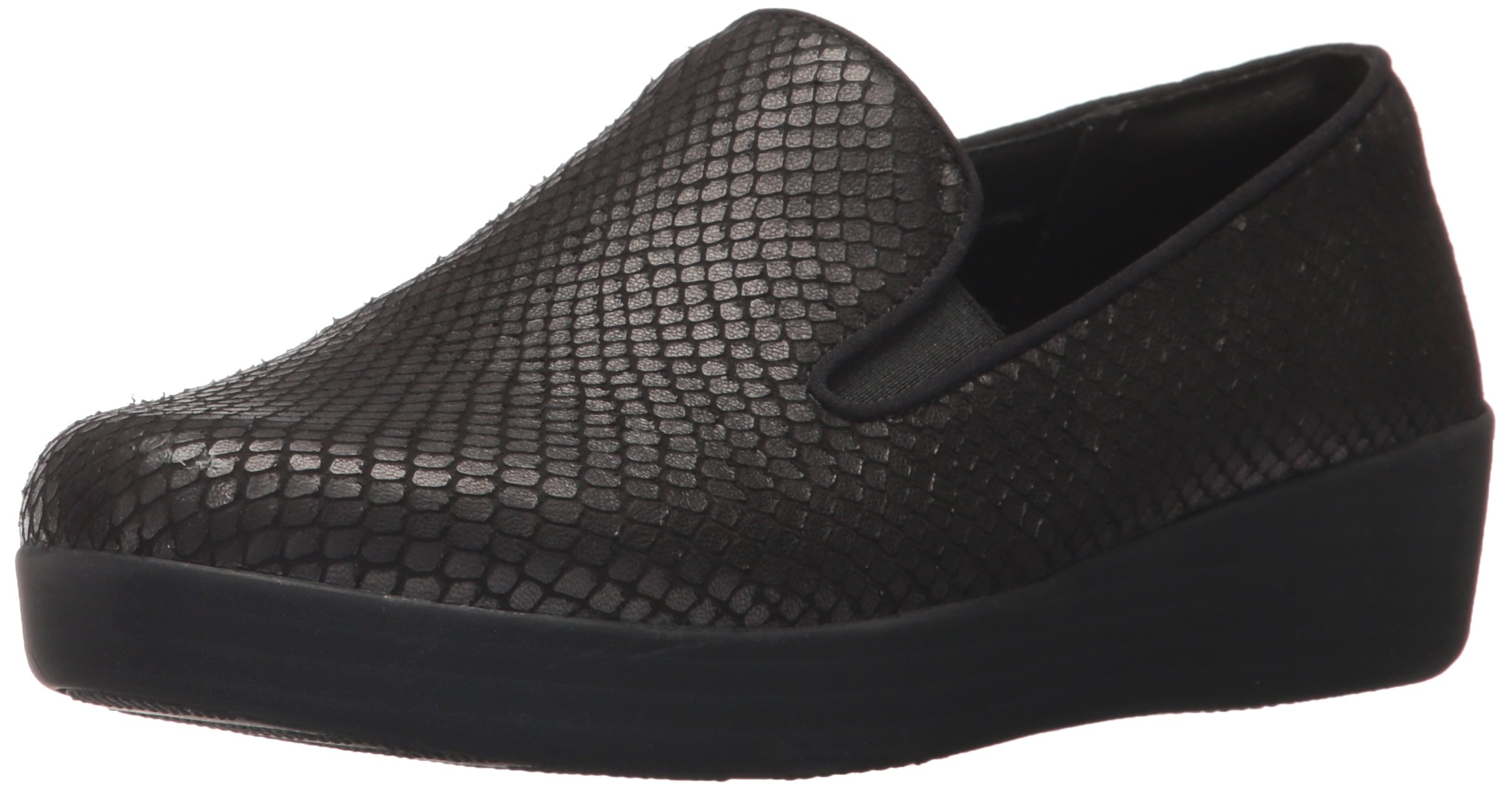 FitFlop Women's Superskate Loafer, Black, 9 M US