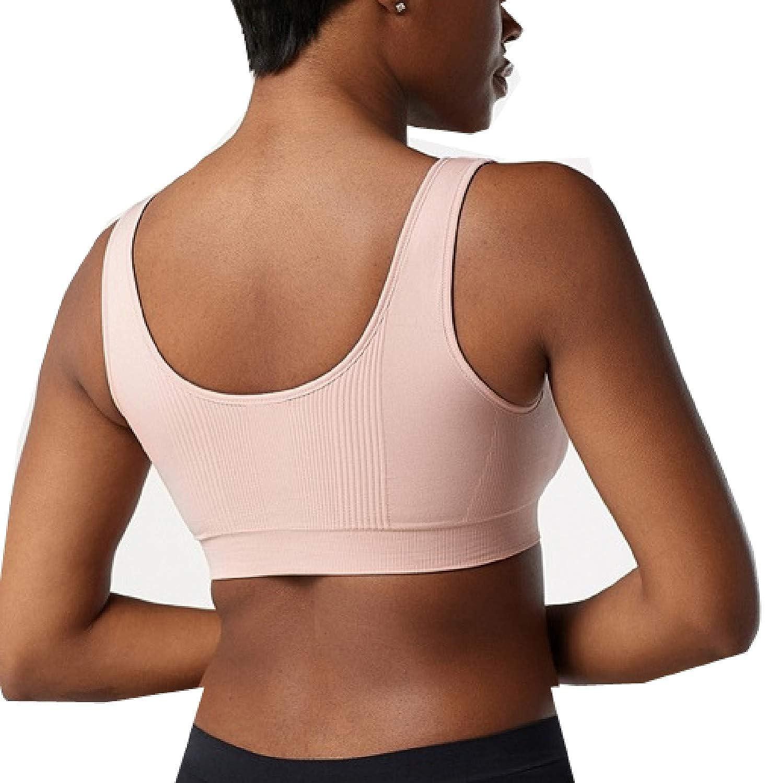 SPANX Breast of Both Worlds Seamless Reversible Comfort Bra Pink//Grey 1X