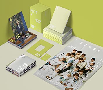 Amazon nct 127 2018 seasons greetings a ver 12 monthly nct 127 2018 seasons greetings a ver 12 monthly planner12 photocards m4hsunfo