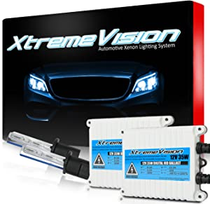 Xtremevision 35W AC Xenon HID Lights with Premium Slim AC Ballast - H1 5000K - 5K Bright White - 2 Year Warranty