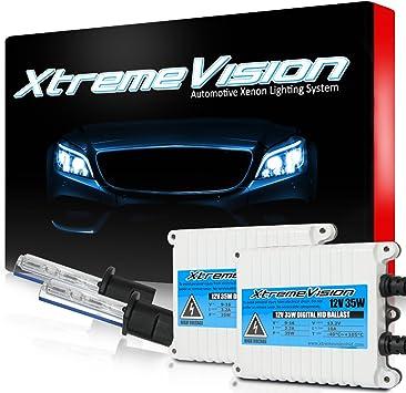 2 Year Warranty XtremeVision 35W AC Xenon HID Lights with Premium Slim AC Ballast 5K Bright White 9005 5000K