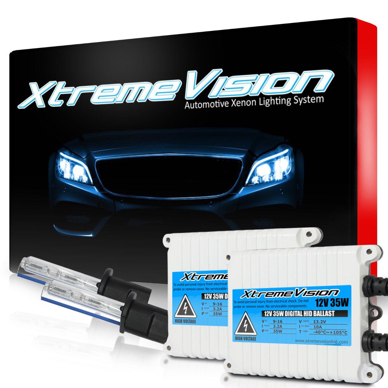 9005 8000K 8K Medium Blue XtremeVision 35W AC Xenon HID Lights with Premium Slim AC Ballast 2 Year Warranty