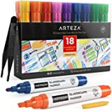 3mm Fine Bullet Nibs Stationery Island Chalk Pens W30 Pack Of 8 Neon Colours