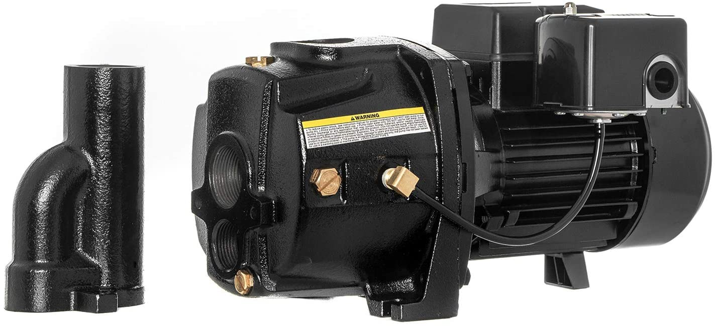 RainBro 1/2 HP Cast Iron Convertible jet well pump, Deep Well Pump with Ejector Kit, Model# CCW050