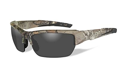 25056820a7c1 Amazon.com: Wiley X WX Valor Glasses Smoke Grey Lens Realtree Xtra ...